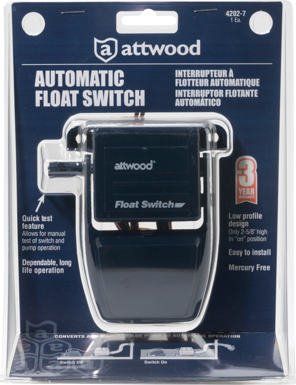 attwood automatic float switch for bilge pumps bj 39 s rv. Black Bedroom Furniture Sets. Home Design Ideas