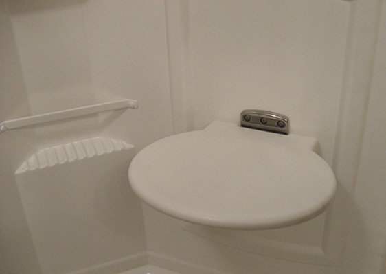 Rv Fold Up Shower Seat Bj S Rv And Marine Products
